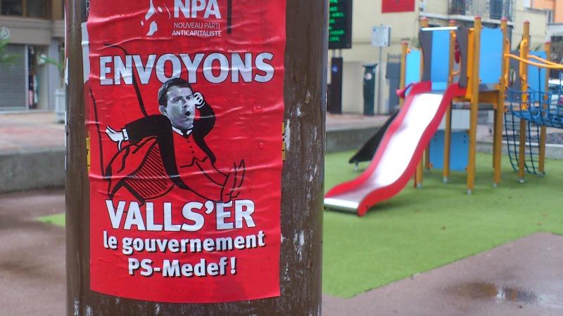 Le NPA appelle à faire Valls er le gouvernement PS Medef
