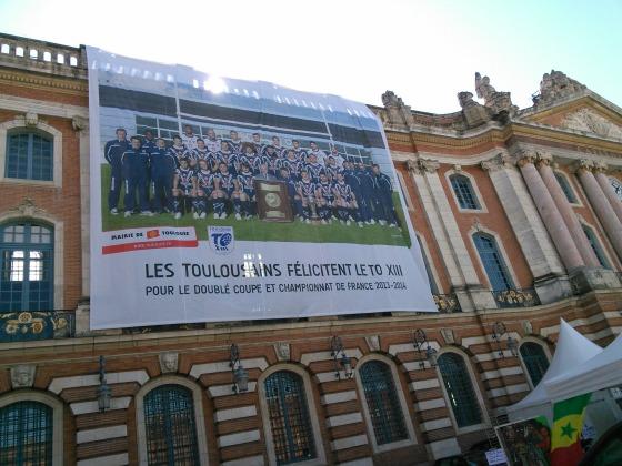 Toulouse célèbre le Toulouse olympique XIII
