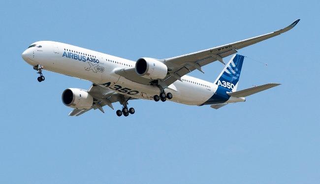 1er Vol de nuit pour l'Airbus A350 XWB avec passagers