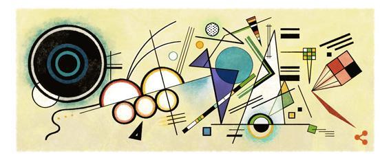 Kandinsky fêté par Google aurait eu 148 ans