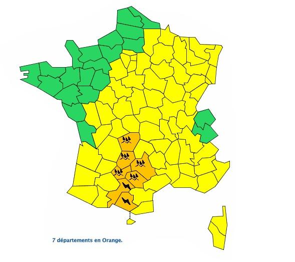Orages violents : la Haute Garonne en alerte vigilance orange