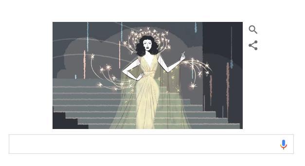 Hedy Lamarr un parcours extraordinaire mis en avant par Google