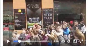 Occupation de la FNAC Toulouse : la vidéo festive de la sortie des manifestants