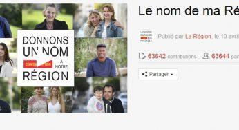Plus de 60 000 votants pour le nom de la nouvelle région