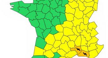 Gard et Bouches du Rhône en alerte météo vigilance orange