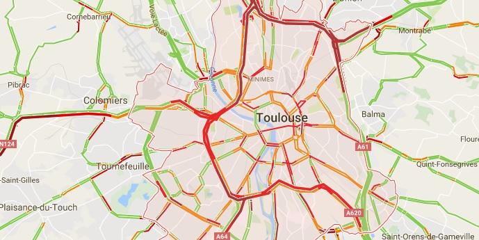 accident sur la rocade de Toulouse, importants ralentissements à Balma