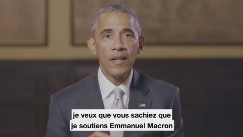 Obama apporte son soutien officiel à Macron