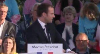 à Albi, Emmanuel Macron critique le programme de Marine Le Pen
