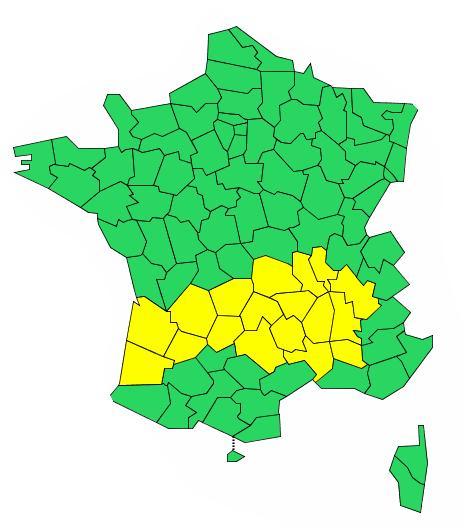 Canicule - Orages. 18 départements placés en alerte