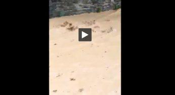 Aveyron. à Espalion un impressionnant torrent de boue après les orages