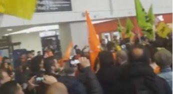 Forte mobilisation des cheminots grévistes en gare de Toulouse Matabiau