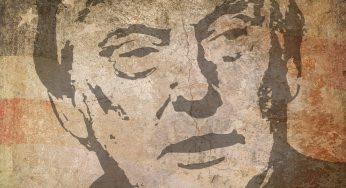 Otan. la photo symbolique de Trump qui regarde dans la direction opposée