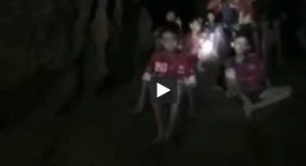 Thaïlande : premières images des enfants, après 9 jours dans une grotte