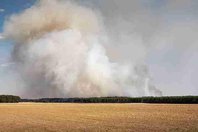Incendie sur le causse entre Castres et Mazamet