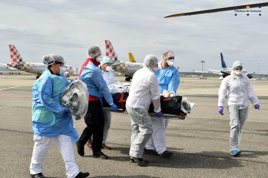 Coronavirus Covid19 transferts de patients depuis la région PACA à Toulouse