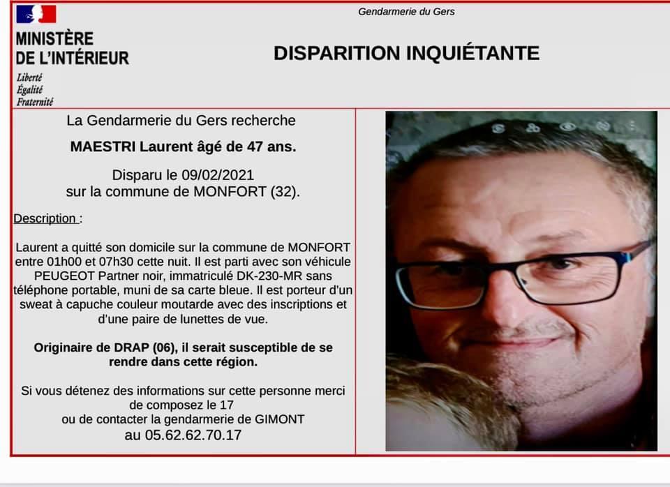 Gers disparition inquiétante