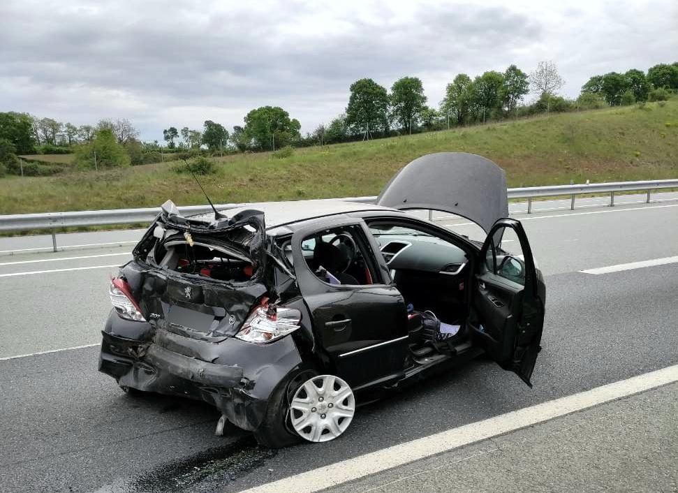 Lot pas de victime dans un très violent accident
