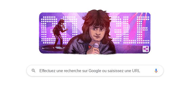 Daniel Balavoine célébré par Google