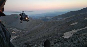 Intervention en urgence des gendarmes du PGHM à la Brêche de Roland
