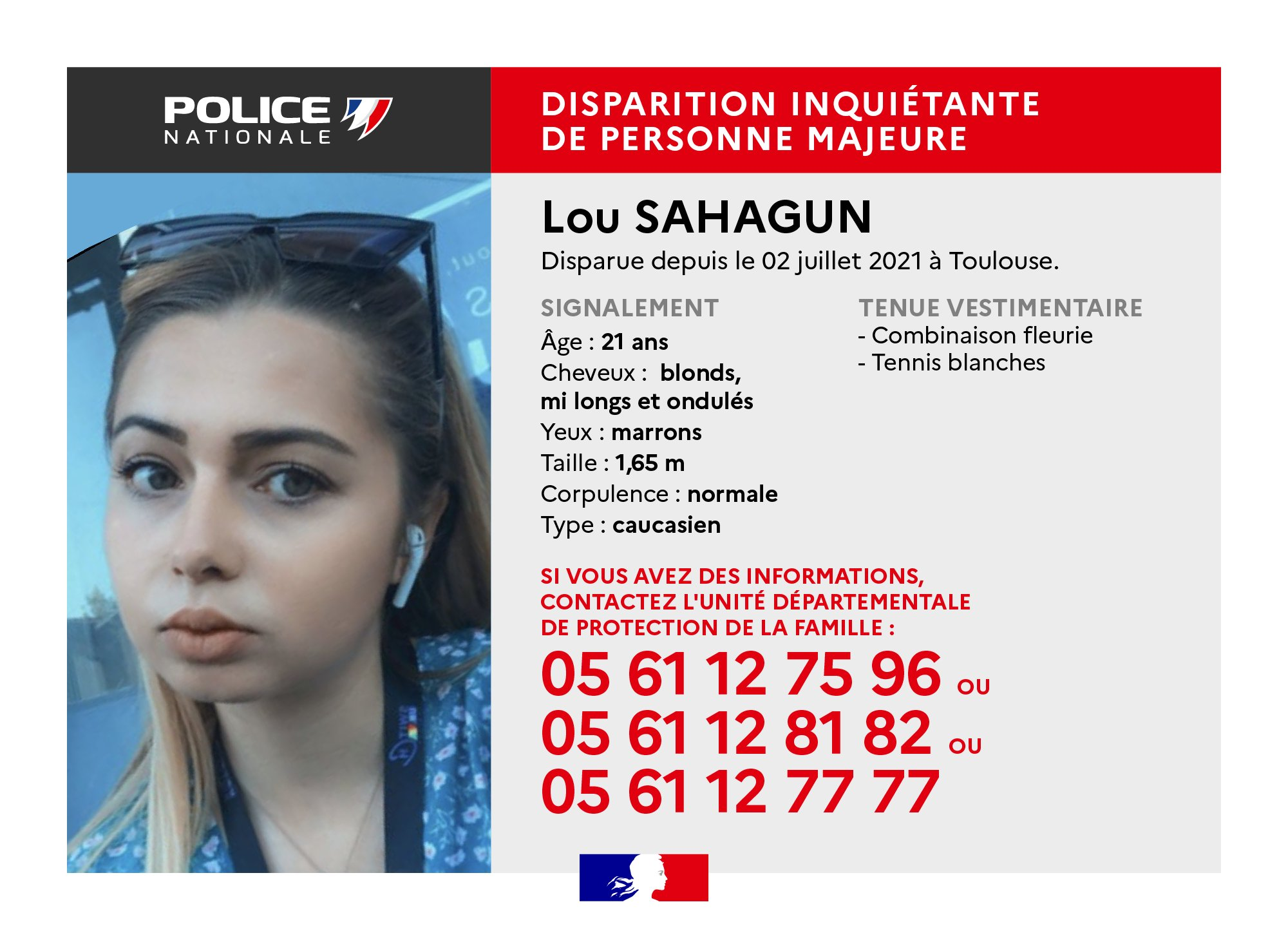Disparition inquiétante d'une jeune femme à Toulouse