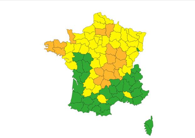 Orages Inondations : 16 départements en alerte orange