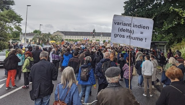 Manifestation anti Pass Sanitaire à Toulouse : 9 interpellations 4 policiers blessés
