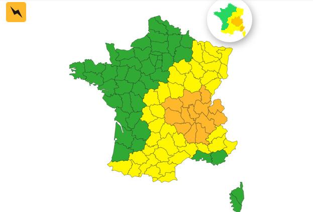 Orages violents Canicule, 13 départements en alerte vigilance Orange