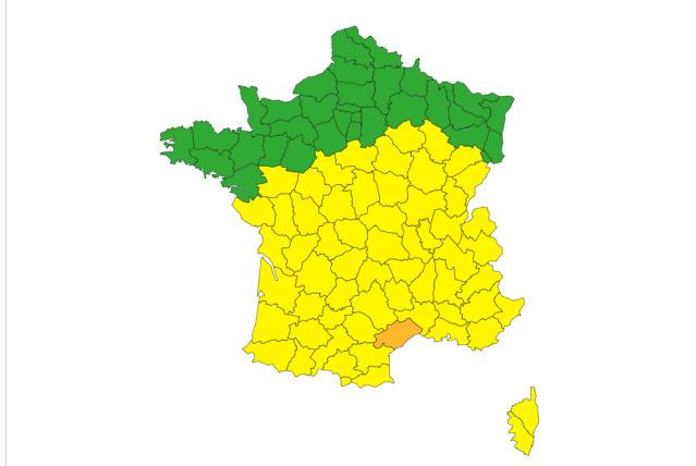 Tout le sud de la France en alerte aux orages